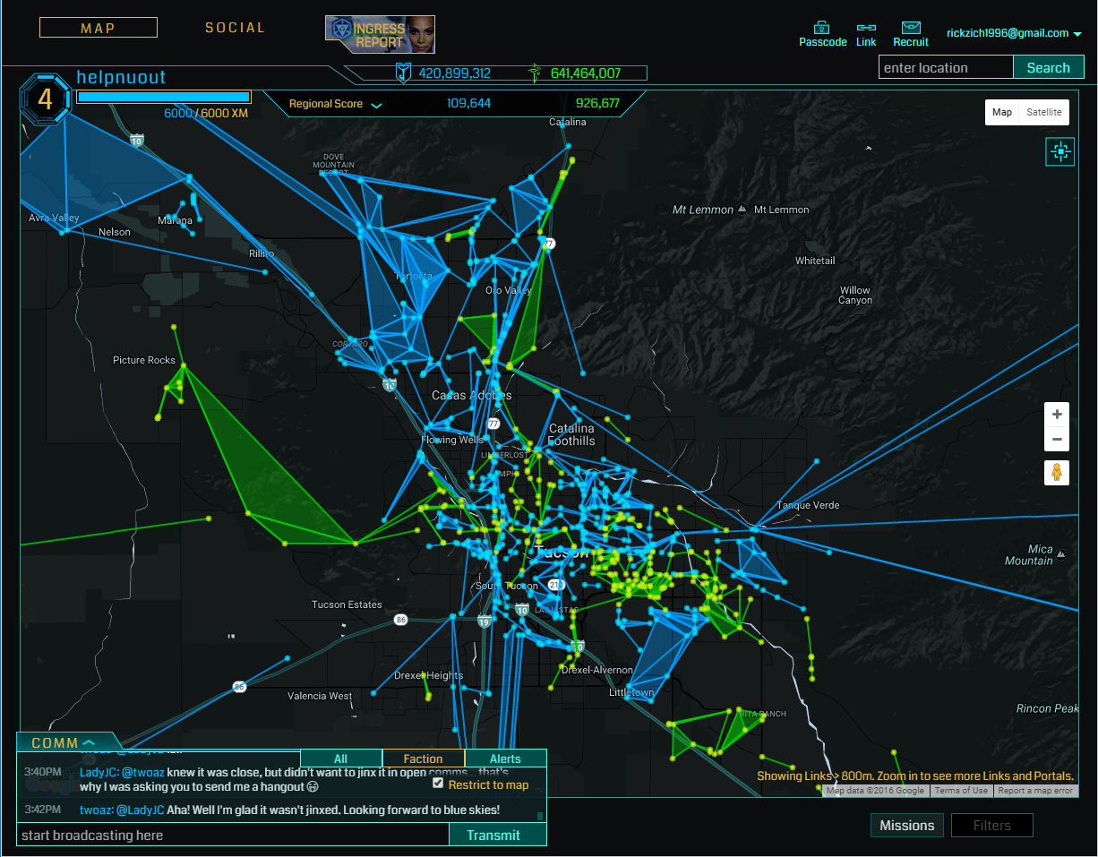 ingress desktop view